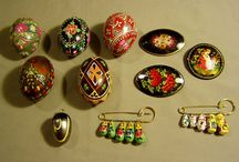 RUSSIAN KHOKHLOMA / Traditional Folk Arts of Russia, including Black, Red, and Gold  Lacquer objects of magical beauty. / by Zhenne Wood