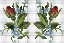 Needlepoint, Small Roses