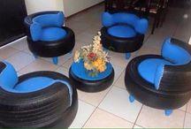 Möbeln aus Reifen