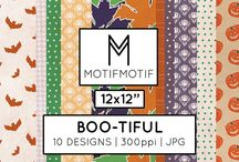 Motif Motif Digital Papers / Digital patterns available as digital scrapbook papers in our Etsy shop.