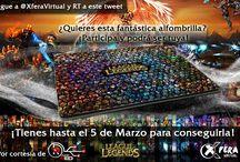 Banners Sorteo Alfombrilla LOL y Llavero / Banners de un sorteo de una alfombrilla de League Of Legends y un Llavero