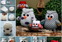 Muñecos con calcetines y guantes/ Socks and gloves toys