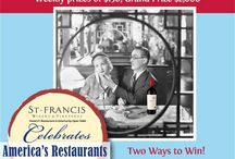 Wine, Dine & WIN / Submit a photo of you and a bottle of St. Francis wine at your favorite restaurant for a chance to WIN! Visit our Facebook page for details.  / by St. Francis Winery