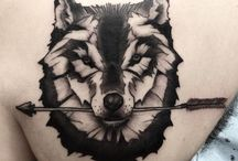 Wolf Tattoos / Wolf Tattoos are the most common animal tattoo that is meant for both men & women. These tattoos mainly used to show devotion, fearless, family, success, strength, independence, triumph and lots more.