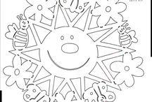 Vystřihovánky - slunce, měsíc