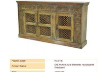 Sideboards, Buffets and Servers / Sideboards, Buffets and Servers made from old architectural elements old doors.