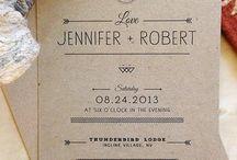Wedding invitations / Invitations Handmade Vintage Kraft paper