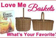 Love Me Baskets / What's your favorite basket? Oak, reed, plastic, etc.? Baskets and more Baskets, all shapes/sizes. Stuff 'em, fill 'em, carry 'em.