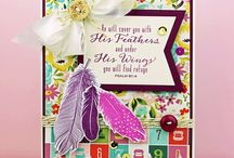 Fine Feathers / Inspirational projects created using the Fine Feathers stamp set, now available from Gina K Designs here (copy and paste): http://www.shop.ginakdesigns.com/product.sc?productId=2527&categoryId=16  Some of these are my projects, many of them are the work of friends and the wonderful WMS DT folks.