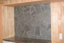 Liuskekivi seinäverhoiluun / Ideoita liuskekiven käytöstä seinäverhoilussa