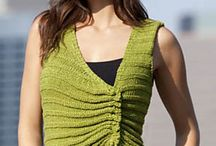 asymemetrical  knits and crochet