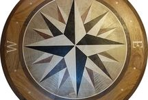 Froom Floor Medalion Coompass Rose / 36in Hardwood Compass Rose - Client pics