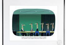 Collection VOUTCH / Découvrez les créations de Voutch - Les dessins d'humour est le moyen idéal pour parler des évolutions de notre société et d'en souligner les paradoxes et les absurdités Découvrir la collection : http://image-republic.com/fr/10-voutch