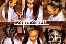 Black hair styles.......Weaves , ponytails etc / by 💖Msdee💜 Dee