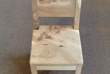 Coming soon to PhD. / Hand made children's chair with matching desk to follow.