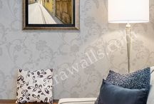 Ultrawalls metallic wallpaper / If your wallpaper manufacturer supplied you with a cleaner, make sure you use it. If you are finished with it, you can buy the same stuff from any local home improvement store.