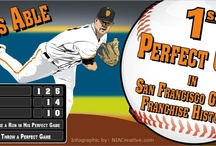 SFGiants - Matt Cain Perfect Game  / San Francisco Giants pitcher Matt Cain pitches perfect game on June 13, 2012 - 14 strikeouts and the only pitcher to ever score a run in his perfect game!  #SFGiants #MattCain #PerfectCain #infographic #baseball #sports #MLB
