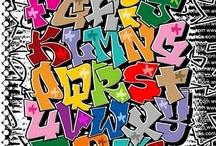 Graffiti Alphabet and letter font / Graffiti abecedario