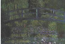 Impressionistas / Pinturas de Impressionistas com um comentário sobre a obra