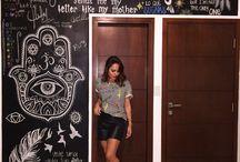Door blackboard