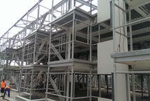 Bloc structura metalica Bragadiru / Constructie bloc Bragadiru pe structura metalica si panouri termoizolante. Pannlelli Top Construct