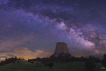 The Milky Way / Pictures of the central band of our galaxy as seen from our planet.  Photographers include one of my favorite photographers, Wally Pacholka ( www.astropics.com ) / by Lalah Godwin