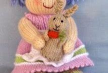 Lavoro A Maglia bambole a maglia