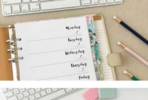 Printable planner / bullet journal / organizer