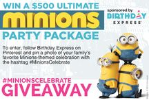 #MinionsCelebrate / We know you're one in a minion but, just like the Minions, the more, the merrier! How would you like to win a $500 Ultimate Minions Party Package to celebrate with your fellow partners in crime? To enter, follow Birthday Express on Pinterest and pin a photo of your family's favorite Minions-themed celebration whether it's a party or just heading to the movies in Minion yellow. Don't forget to include the hashtag #MinionsCelebrate!