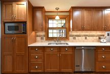 Cherry kitchen with stainless steel