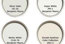Pinturas blancas de diferentes tonalidades