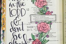 bible journaling / Bible verse lettering inspiration! How to start, verses, art, notebooks, hand-lettering and journaling techniques.