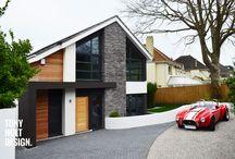 Haus mit Dachneigung