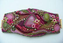 Shibori silk jewelry