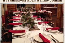 Thanksgiving on the Ranch / Thanksgiving Weekend vacations include a beautiful and traditional Thanksgiving dinner on Thanksgiving Day, plus luxury lodging, three gourmet meals daily, and most ranch activities!