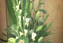 Floral arrangements green