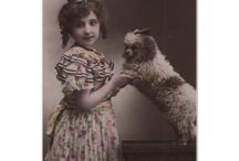 Cute Antique Pictures of Dogs with Kids and Women / Collection of vintage and antique photos depicting dogs with their owners. Dogs with kids, dog with women, cute collection of dogs photos