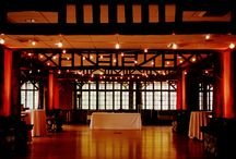 Bear Mountain Wedding / Two Fall weddings in The Hudson Valley at Bear Mountain Lodge and The Bear Mountain Inn Lighting by HourglassLighting.com