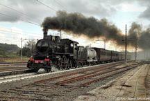 Treni a vapore Italiani / Immagini di treni con locomotive a vapore