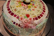 Handmade Mosaic Decor / Handmade Mosaic using vintage china, pottery, it's called Pique Assiette, fully functional Mosaic Art