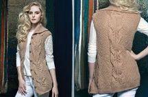 colete de tricô femin