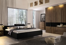Sophisticated bedroom / Bedroom with a combination of leather, lacquer and wood.