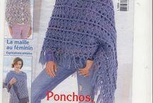poncho femme