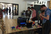 Inauguration de Draft / Le 5 juillet 2014, les ateliers collaboratifs Draft situé à la ZAC Pajol étaient inaugurés