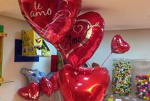 Balões metalizados com gás hélio / Namorados 2015
