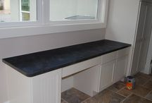 Laminate countertops or counters / a collection of kitchen images where the kitchen counters are made from laminate,Wilsonart, Formica, Pionite, etc.