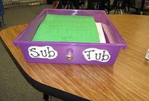 School ideas - sub binders