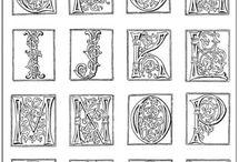 Alfabeti antichi e lettere illuminate