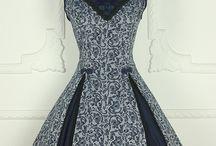 古风花纹裙