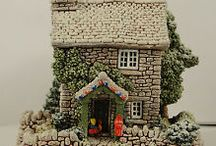 made from polymer clay little cottage